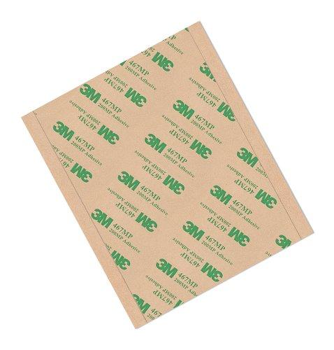 Tapecase 467MP 12,7x 21,9cm -50High performance adhesive transfer tape, convertito da 3m 467MP rettangoli, 12,7x 21,9cm (confezione da 50)