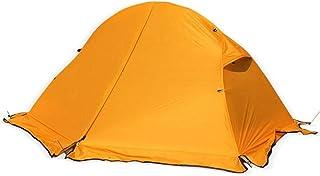 DorisAA camping tält enkel inställning utomhus enkel person camping tält vattentätt dubbla lager solskydd tak (färg: Orang...