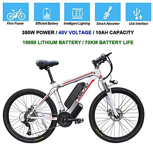 CXY-JOEL Bicicletas Eléctricas para Adultos, Bicicleta de Bicicleta Eléctrica de Aleación de Aluminio de 360 Vatios Bicicleta Extraíble 48V / 10Ah Batería de Iones de Litio Bicicleta de Montaña/B