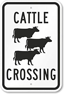 Best cattle crossing road signs Reviews
