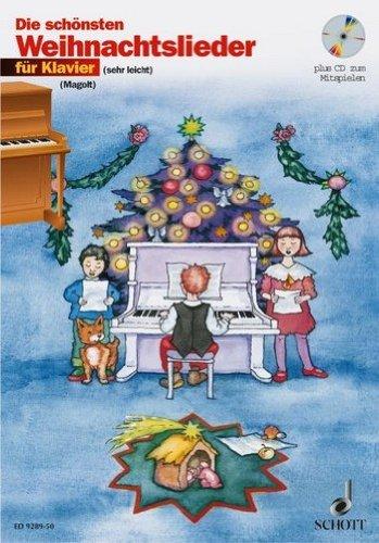 De mooiste kerstliedjes (+CD): voor piano (met tekst) – de schriften bevatten zeer lichte bewerking voor piano die al vanaf het eerste schooljaar kunnen worden gespeeld. Noten/sheet music