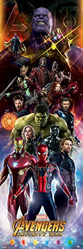 Avengers Infinity War Poster Characters Langbahnposter