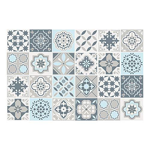 Vinilicca - Protector de Escritorio - Vinilo Adhesivo - Triangles - 60 x 40 cm - Diseño Exclusivo - Multicolor - Fabricado con PVC - Antideslizante - Limpieza Sencilla - Vinilos Decorativos