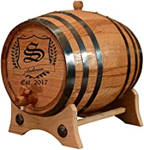 (20 Liters) Personalized - Vintage Customized American White Oak Aging Barrel - Barrel Aged