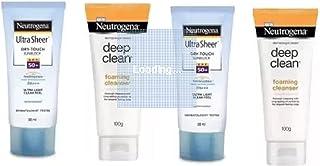 Neutrogena sunblock+cleanser (4 Items in the set)