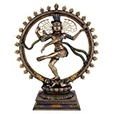 "Large Lord Nataraja Dancing Shiva Statue Sculpture Figure 18"" Tall"