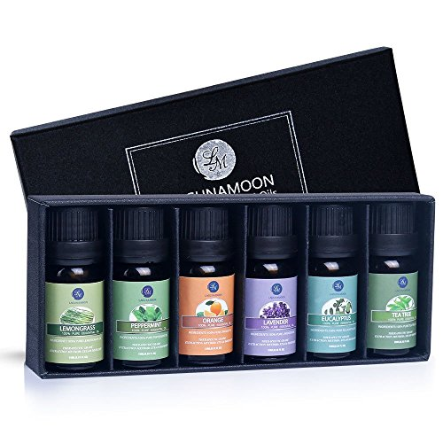 Lagunamoon Essential Oils Top 6 Gift Set  Pure Essential Oils for...