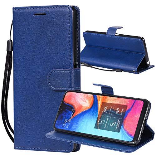Yiizy Handyhüllen für Honor 8S KSE-LX9 Ledertasche, Fashion Stil Lederhülle Brieftasche Schutzhülle für Honor 8S KSA-LX9 hülle Silikon Cover mit Magnetverschluss Kartenfächer (Blau)