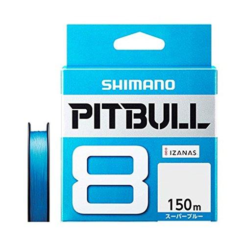 シマノ(SHIMANO) PEライン ピットブル 8本編み 150m 0.8号 スーパーブルー 18.3lb PL-M58R