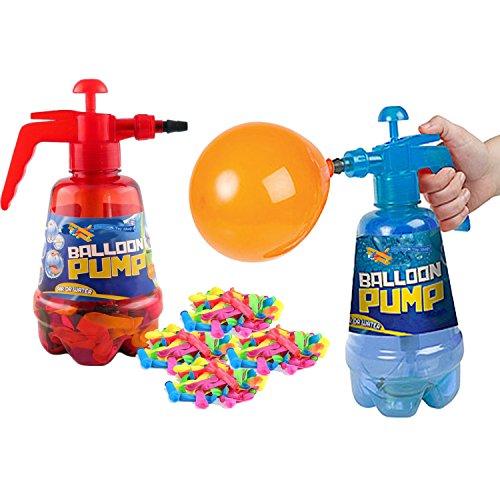 The Magic Toy Shop 2-in-1-Luftballon-Pumpe für Kinder, Party, Outdoor, Garten, 100-teiliges Set