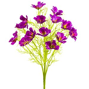 22″ Silk Cosmos Flower Bush -Purple (Pack of 6)