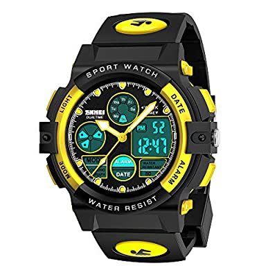 My-My Birthday Presents Gifts Idea for 5-12 Year Old Boys, LED 50M Waterproof Digital Sport Watches for Kids Cool Toys for 5-12 Year Old Boys Gifts Age 5-12 ZHYellow MMUSPW02