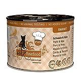 catz finefood Ragout N° 609 Schwein & Kalb Katzenfutter nass - Feinkost Nassfutter für Katzen in Sauce ohne Getreide und Zucker mit hohem...