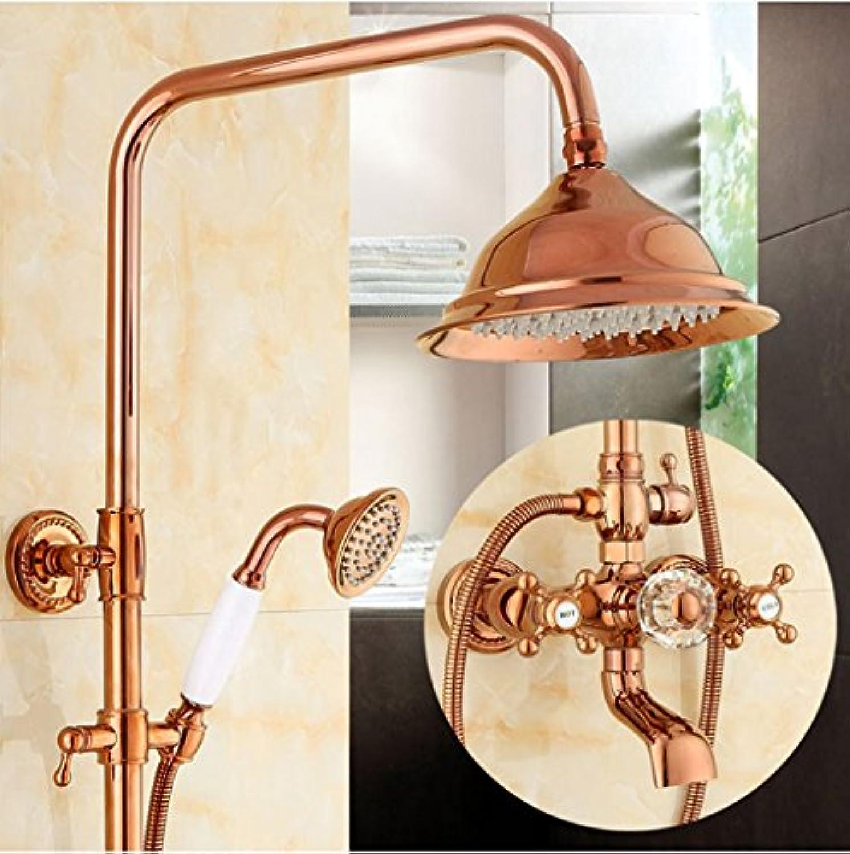 Li@ Amerikanischen Stil Natürliche Jade Dusche Gert Dusche-Set europischen Stil alle Bronze Imitation Alten heien und kalten Wasserhahn Dusche Gert (Design   B)