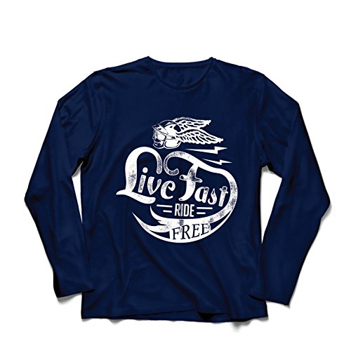 lepni.me T-Shirt Manches Longues Homme Live Fast...