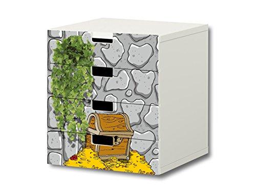 STIKKIPIX Caballero Pegatinas Muebles   S4K07   Adecuado para la cómoda con 4 cajónes STUVA de IKEA   (Mueble no Incluido)
