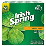 8. Irish Spring Original Deodorant Soap 20 x 3.75 oz. Soap Unisex