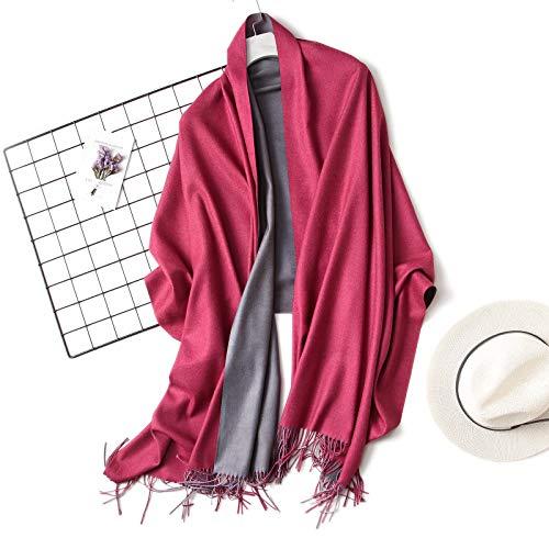 AiKoch Las Mujeres del Invierno De La Bufanda De Las Bufandas Sólidas Blandas For Lady Chales Wrap Manta Pañuelo Mujer Foulard Borla Comfortable (Color : C7)
