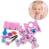 Sforza Kinder Kosmetik Make-Up Set, Spielhaus Spielzeug Lidschatten Lipgloss Pinsel Kit, Süße...