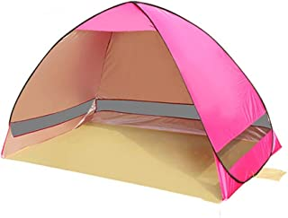 Tent Canopy Automatic Pop-up Sunshade Beach Tent 2 People Portable 100% Waterproof 50+ UV Protection Easy to Carry Travel Bag, for Family Garden/Camping/Beach