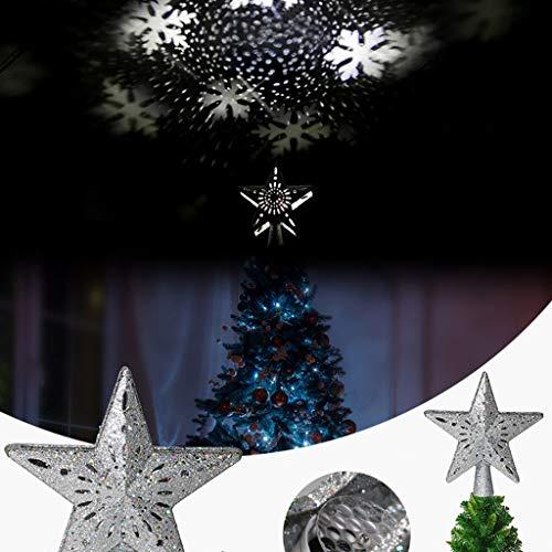 FBGood - Lámpara de proyección de Navidad, diseño de Copo de Nieve, decoración para Navidad, Halloween, cumpleaños, Fiestas, Carnaval