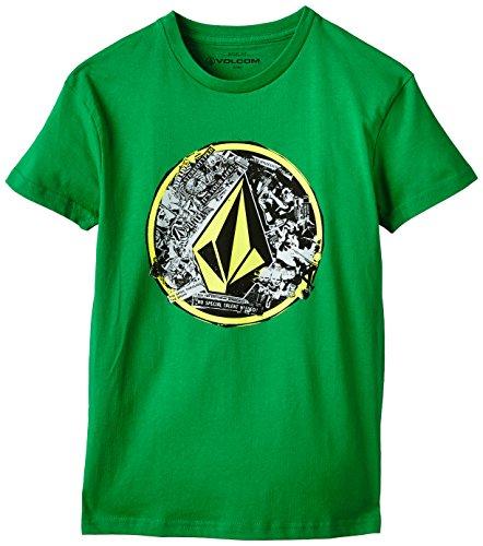 Volcom T- Shirt Punk Circle Shortsleeve Garçon, Vert-Vert, S