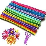 QH-Shop Pfeifenreiniger, für Kinder zum Basteln und Dekorieren 6mm*30cm 200 Piece