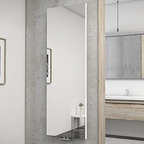 Schulte H034020 04 Heizkörper New York mit Spiegel, 180 x 60 cm, 50 mm Mittelanschluss, alpinweiß, Wohnraumheizkörper für Zweirohr-System
