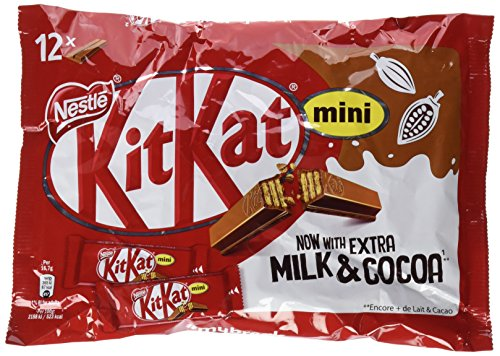 NESTLÉ KitKat Mini Chocolate con Leche Barritas en Bolsa - Paquete 12 x 200 gr - Total: 4,8 kg
