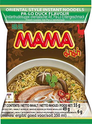MAMA Instantnudeln mit Entenfleischgeschmack – Instantnudelsuppe orientalischer Art – Authentisch thailändisch kochen – 24 x 55 g