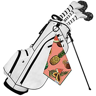 Uther Premium Golf Towel - Cart Small Golf Towel (Tropical Holiday)