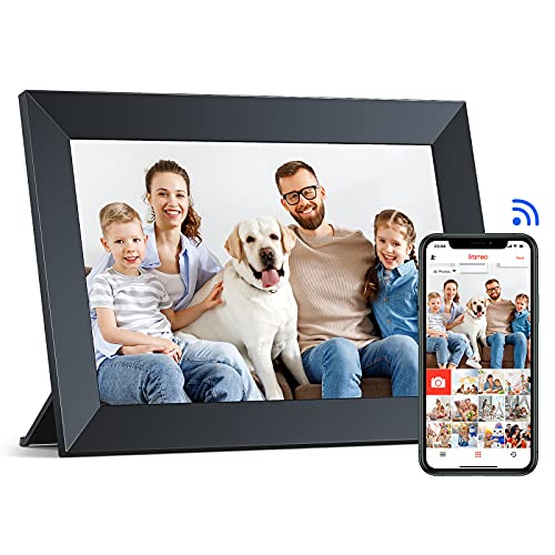 WiFi Digital Picture Frame, 10.1'' IPS Touch Screen with App Frameo, 16GB Storage, Auto-Rotate, Easy Setup, Share Videos and Photos Anywhere and Anytime