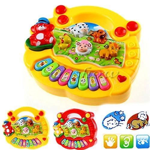 Demiawaking Kinder Gehirn Entwicklung Kinder-Musik-Entwicklungs-Tier-Bauernhof-Klavier-Ton-pädagogisches Spielzeug