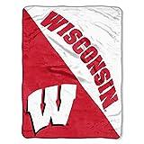 The Northwest Company Wisconsin Badgers 'Halftone' Micro Raschel Throw Blanket, 46' x 60' , Red