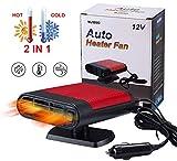 JAuto Fast Heating Car Heater, 12V 150W 2 in 1 Fan Cooler & Heater Plug in Car Cigarette Lighter, Defogger Defroster, Demister, Heater Fan for Vehicle Windshield in Winter