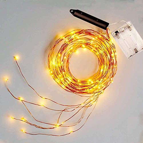 zhenxin LED String Light Waterproof Outdoor 2M 5 Branch 100leds Tree Vine Branch Copper Wire LED String Lights Christmas Holiday Party Wedding Lights