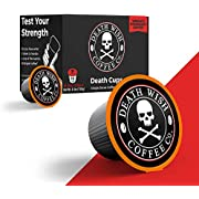 DEATH WISH Death Cups [10 Count] Single Serve Coffee Pods, World's Strongest Coffee, Dark Roast, Keurig Capsules, K Cups, Capsule Cup, USDA Certified Organic, Fair Trade, Arabica and Robusta Beans