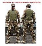 ATAIRSOFT Herren BDU Anzug, Hemd und Hose Anzug für Outdoor Militär Airsoft Paintball War Spiel, Braun/Grün, xl