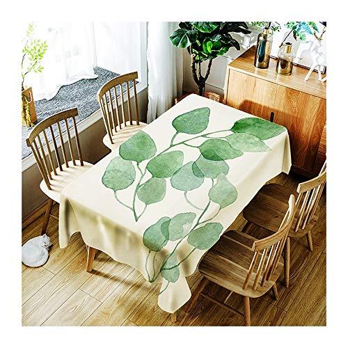 ZHAOXIANGXIANG Tapis De Table Minimaliste Plante Verte Table Cloth Décoration Maison Pique-Nique Dîner Table Cloth Imprimer,130Cm×180Cm