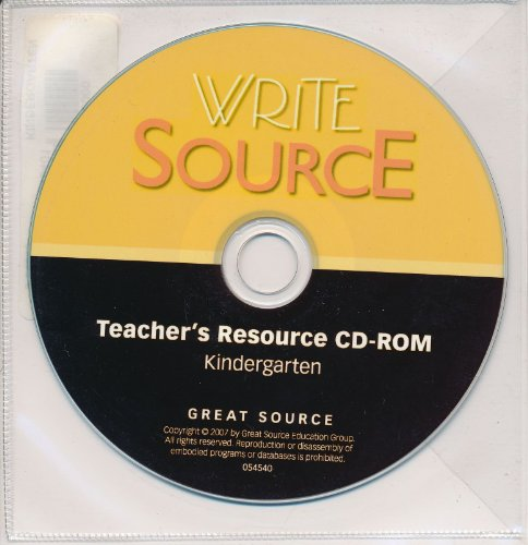 Write Source: Resource CD Grade K 2007