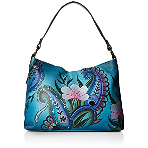 Fashion Shopping Anna by Anuschka Women's Genuine Leather Large Hobo Handbag | Zip-Top Organizer