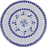 vidaXL Mosaik Gartentisch Ø 60cm Beistelltisch Mosaiktisch Tisch Gartenmöbel - 2