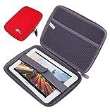 DURAGADGET Funda Rígida Rojo para La Tablet Archos 70 Helium - ¡Guarde Su Tableta De Una Manera Segura!