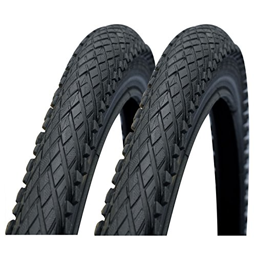 Impac Crosspac 26' x 2.0 Semi Slick Mountain Bike Tyres (Made by Schwalbe) - Pair