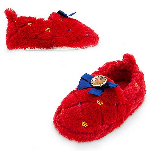 Disney Elena of Avalor Deluxe Slippers for Girls Size 7/8 Red