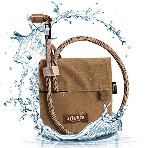 Source Hydration Pack 1 Liter Kangaroo with Molle Pouch Webbing for Easy Attachment to Tactical Vest or War Belt - Closed Cell Insulation Keeps Water Cool