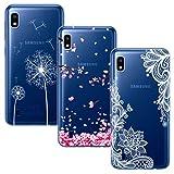 BAOWEI 3-Stück Samsung Galaxy A10 Hülle, Transparent