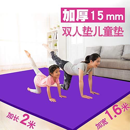 Ambientale insapore tappetino yoga antiscivolo spessore allargato allargata danza famiglia tappetino fitness all'aperto bambini campeggio stuoia stuoia strisciant-Yoga mat cinghie pacchetto + Network +-Rosa (2000 * 1600 * 15mm)