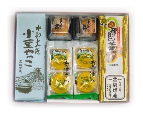 胡蝶庵銘菓撰(小豆やっこ、栗きんとん羊羹、おかぼさん、美濃り柿)