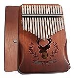 Kalimba 17 Teclas, Piano de pulgar con instrucciones de estudio y martillo de afinación, Mbira Instr...